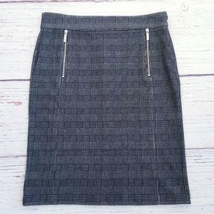 Michael Kors Plaid Pencil Career Skirt